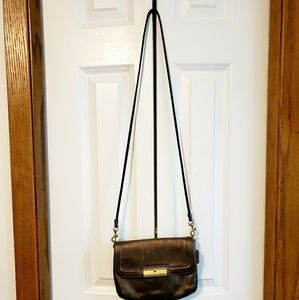 Coach bronze metallic small crossbody